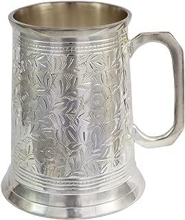 silver beer stein
