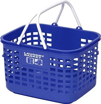 和泉化成 ランドリーボックス カラフル ランドリー浅型 ブルー (幅43×奥33.5×高27cm) 3669KB
