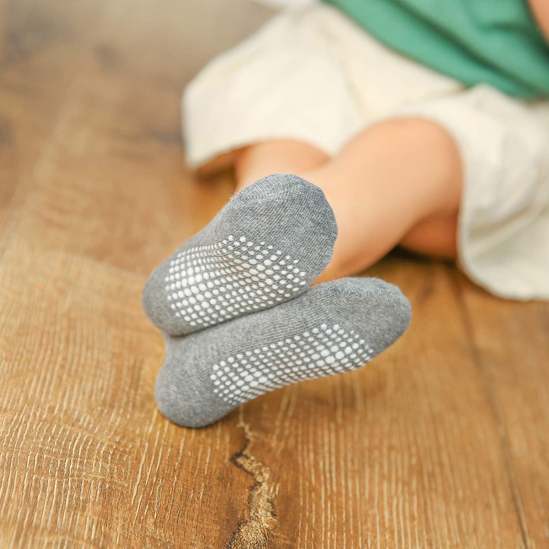 Dicry Calze Caviglia Cotone Antiscivolo Per Bambini Piccoli Neonati e Infanti 6//12 Paia