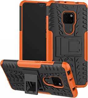 Huawei Mate 20 Case,Labanema Heavy Duty Shock Proof Rugged Cover Dual Layer Armor Combo Protective Hard Case Cover for Huawei Mate 20(Not Fit Huawei Mate 20 Lite/Mate 20 Pro) - Orange