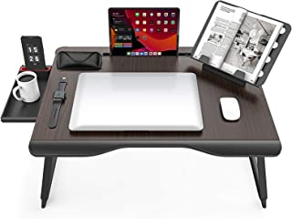 Extra XX-Large Laptop Desk, SAIJI Folding Bed Tray Table for Writng/Working/Gaming/Eating, Lap Desk with Bookstand, Tablet...