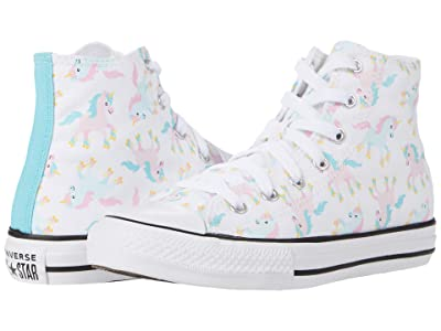 Converse Kids Chuck Taylor(r) All-Star(r) Unicorns Hi (Little Kid/Big Kid) (White/Multi/White) Kids Shoes