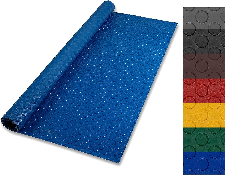 rutschfeste Gummiplatte Geeignet als Garagenbodenmatte Viele Gr/ö/ßen zur Auswahl Pferdestallmatte oder Werkbankmatte Bodenmatte aus Gummi 1,5x1 m, Flachnoppen - St/ärke: 3mm