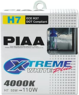 PIAA 17655 H7 Xtreme White Plus High Performance Halogen Bulb, (Pack of 2)