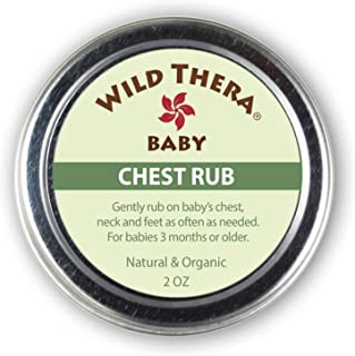 Sponsored Ad - Wild Thera Baby Chest Rub Balm. Herbal Organic Solution for sniffles, Congestion, Sinus, Allergies & runny ...