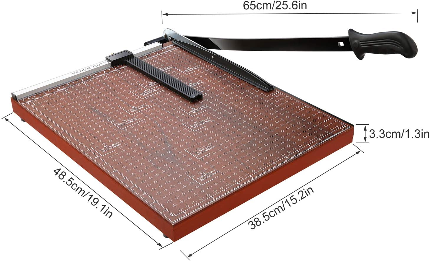 Gitterpapier strapazierf/ähig 30,5 cm Schnittl/änge Trimmer Metallbasis Foto-Schneidemaschine 10 Blatt Kapazit/ät f/ür B/üro Zuhause rot A4 Papierschneidemaschine