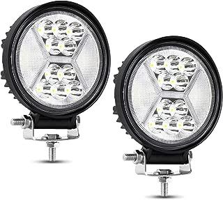 Round LED Off Road Light, AAIWA 2PCS 120W Flood Spot Combo Light Bar 4.5 Inch LED Work Light, Driving Lights for Truck Pickup Jeep SUV ATV UTV