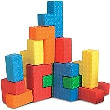 """Puzzle Blocks Sensory Puzzle Blocks 18 Pieces Kids' Toys, Multicolor, 8"""", 18 Pieces"""