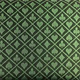 Yuanhe 108X60Inch Section of Two-Tone Suited Poker Table Speed Cloth (Green)