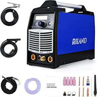 Riland TIG Welder Machine ACDC Pulse - Portable Stick Welders 180A TIG ARC 2 in 1 Welding Aluminum with LED Display Voltag...