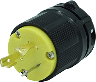Journeyman-Pro 2311 20 Amp, 125 Volt, NEMA L5-20P, 2P, 3W, Locking Male Plug Connector, Black Industrial Grade, Grounding 2500 Watts Generator Rating (L5-20P Male Plug)