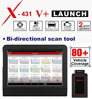 LAUNCH X431 V+ (Upgraded Version of X431 V Pro) Bi-Directional Bluetooth OBD2 Scanner Full Systems Diagnostic Scan Tool, ECU Coding, Key Coding, TPMS Reset, SAS, DPF, EPB, ABS Bleeding, 2 Years Update