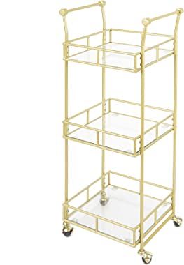 Silverwood Collier 3-Tier Square Bar Cart