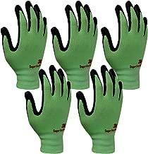 3M Comfortable Grip Nitrile Foam Coated Gardening Work Gloves(5pk) (Large, Green)