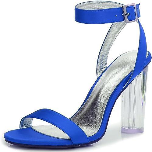 L@YC Chaussures De Mariage des Femmes Crystal Rough avec D-2615-14 Printemps éTé Satin Nuptiale Peep Toe & Night Office & CarrièRes