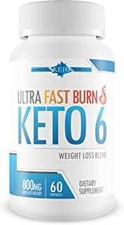 Ultra Fast Burn Keto 6 - Weight Loss - Burn Fat Faster with Complete Keto Bhb Salts to Help Your Body Enter Ketosis More Quickly - Get an Ultra Fast Keto Boost with Ultra Fast Burn Keto 6 Pills
