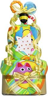 Sassy サッシー 出産祝い 豪華2段 おむつケーキ パンパース テープタイプ S 手作り 男女兼用