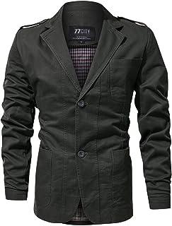 FGYYG Men's Autumn Winter Fashion Slim Single-Breasted Blazer Jacket Designer Soft Cotton CoatsTwo Buttons