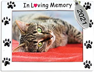 Beautiful Pet Memorial Picture Frame Ornament - Loss of Dog Gifts - Can Be Personalized at Home - Comes in A Gift Bag - 2021