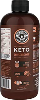 Keto Coffee Creamer with MCT Oil, Ghee Butter, Cocoa Butter - 16oz / 32 Servings (Must Blend) - No Carb Keto Creamer for Coffee Booster [Unsweetened] Ketogenic, Low Carb (Zero), Left Coast Performance