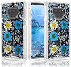 Galaxy Note 9 Case, UZER Real Dry Flower Style Shockproof Luxury Glitter Sparkle Bling Diamond Twinkle Glitter Shining Sparkle TPU Bumper Impact Defender Case Cover for Samsung Galaxy Note 9 6.4