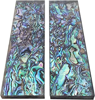 1Pair Natural Pura Abalone Shell Knife Handle Inlay Material Scale Blank Grip Sheet - 33x118x6mm