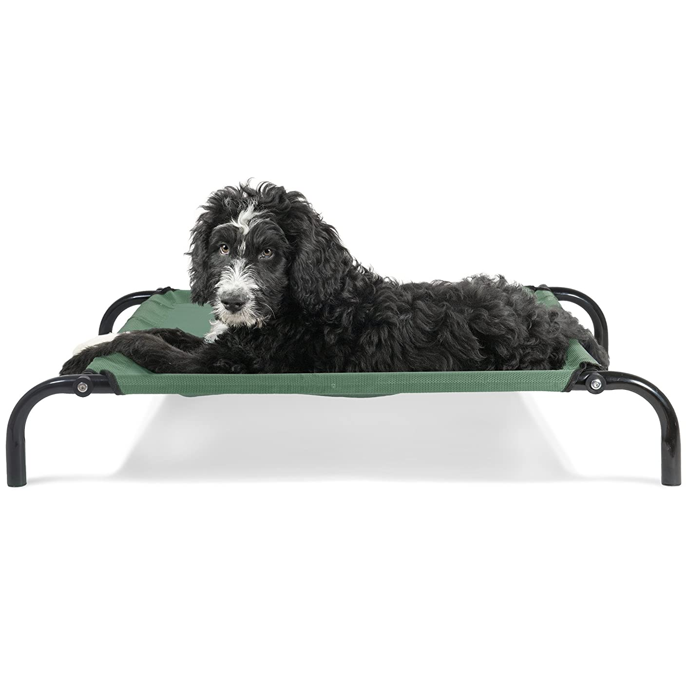 Furhaven Pet Dog Bed | Reinforced Breathable Cooling Mesh Elevated Pet Cot Bed for Dogs & Cats - Available in Multiple Colors & Sizes