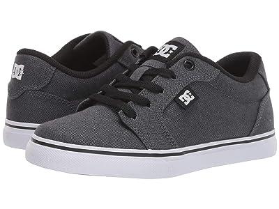 DC Kids Anvil TX SE (Little Kid/Big Kid) (Black/Armor) Boys Shoes