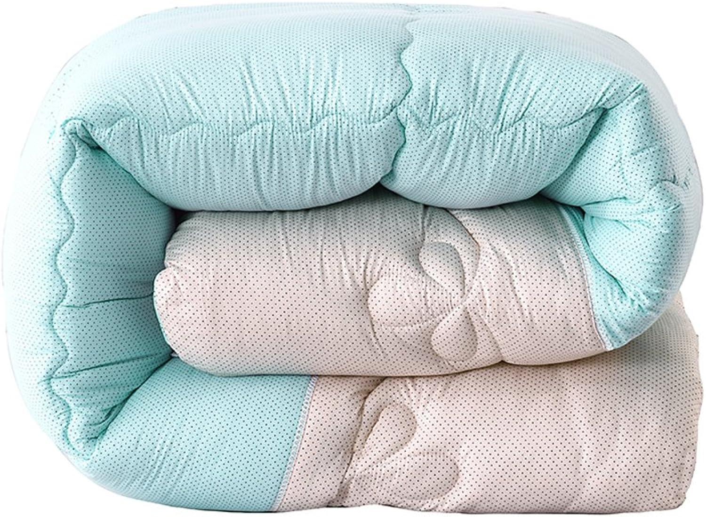 QQDE DW&HX Simple européen rembourré Quilts Coton, Perméable à l'air Doux perméable à l'air Chaud Anti-avoitureiens Quilt-B 180x220cm(71x87inch)