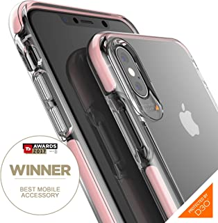 Gear4 Piccadilly Clear Case with Advanced Impact Protection [ Protected by D3O ], Slim, Tough Design Compatible with iPhone Xs Max - Rose Gold