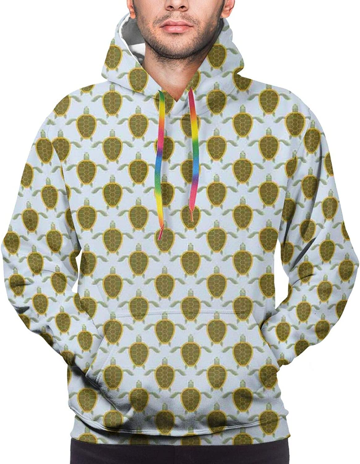 Men's Hoodies Sweatshirts,Flock of Crows Monochrome Illustration of Birds Flying Into The Sky from A Tree