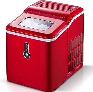 Machine à glaçons Sunmaki, glaçons 12kg 24h, machine à glaçons en acier inoxydable, réservoir d'eau 1.5L, machine à glaçon...