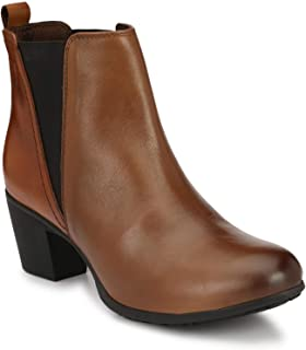 Delize Tan Ankle Boots for Men's