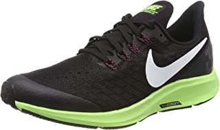 Nike Australia Air Zoom Pegasus 35 Boys Running Shoes, Black/White-Burgundy Ash-Lime Blast