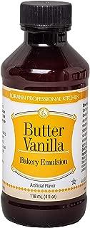 LorAnn Butter Vanilla Bakery Emulsion, 4 ounce bottle