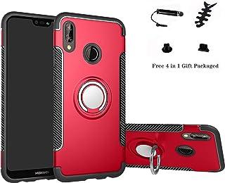 comprar comparacion Labanema Huawei P20 Lite Funda, 360 Rotating Ring Grip Stand Holder Capa TPU + PC Shockproof Anti-rasguños teléfono Caso p...