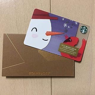 【海外限定】STARBUCKS ギフトカード スターバックス PIN未削り 残高なし ハワイ スタバ 北米 カード 2018 限定 雪だるま