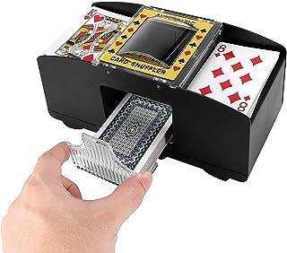 Elektrische kaartenschudmachine, werkt op batterijen (zonder batterij), 2 decks, mengmachine kaarten, kaartenschudmachine ...