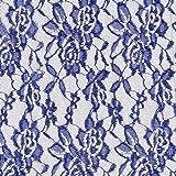 Fabulous Fabrics Spitze königsblau, Blume, 150cm breit