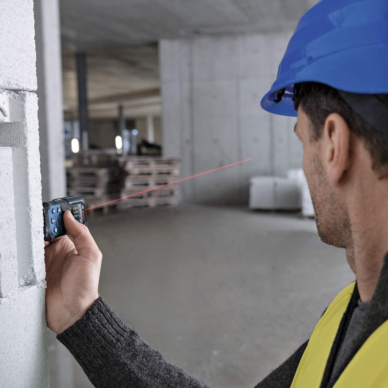 Bosch Professional Laser-Entfernungsmesser GLM 50-27 CG gr/üner Laser, Reichweite: bis 50 m 3,7 V Lithium-Ionen-Akku, USB-Kabel, robust, IP65, Bluetooth-Daten/übertragung, Schlaufe, Tasche