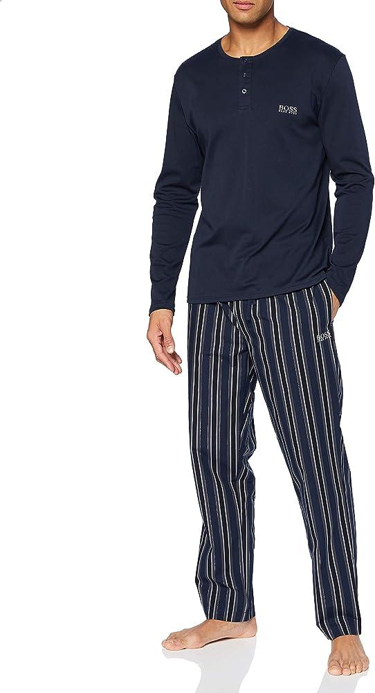 Hugo boss, premium long set ,pigiama per uomo,100% cotone 50451804