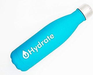 uHydrate | Botella térmica de 500 ml, color azul, cierre hermético, sin fugas, acero inoxidable, sin BPA, reutilizable, de doble pared aislada al vacío