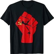 Soviet Union Communist Flag Raised Fist of Resistance Shirt