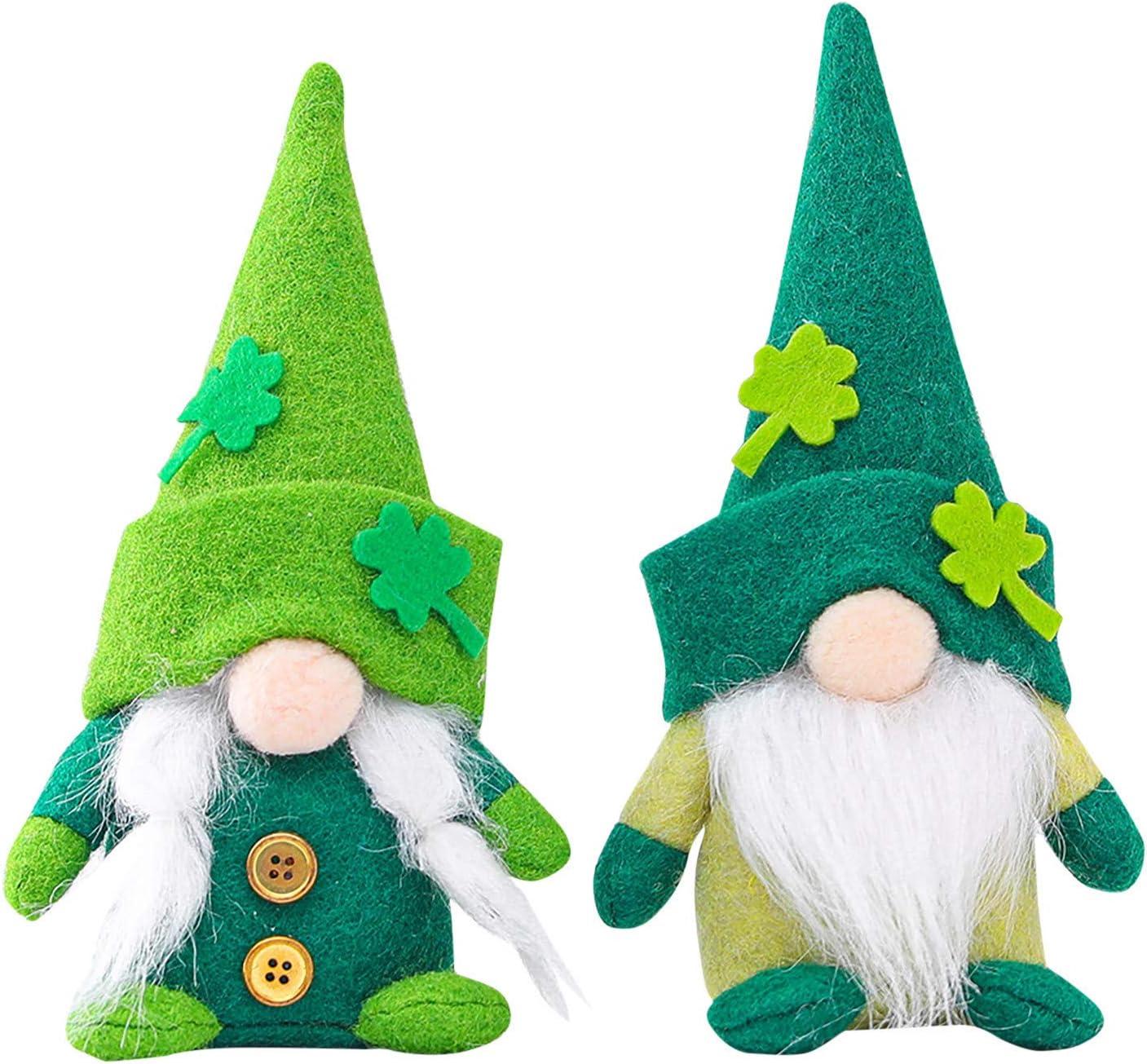 Fastbot St.Patrick's Day Gnome Plush Elf Decorations, Green Hat Doll Faceless Elderly Irish Festival Lucky Clover Hanging Ornament, Saint Patrick's Day Irish Decorations