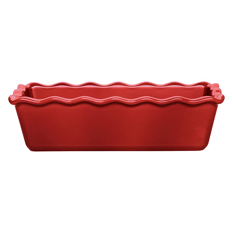 Emile Henry Made In France Ruffled Loaf Pan, 9