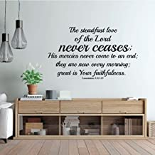 Christian Wall Decal - The Steadfast Love Of The Lord - Bible Verse - Vinyl Scripture And Religious Home Decor Or Church Decoration