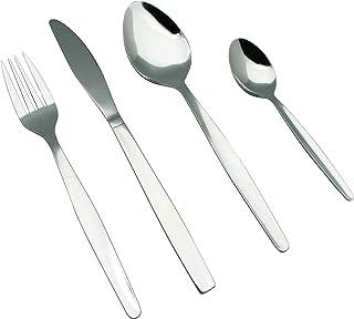 comprar comparacion EXZACT EX826 - Conjunto de Cuberteria con 24 Piezas - Acero Inoxidable - 6 Tenedores, 6 Cuchillos, 6 Cucharas, 6 Cucharadi...