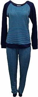 Willow Bay Womens Blue Striped Pajamas Soft Knit Pajama Sleep Set