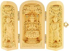 Baoblaze Boxwood Feng Shui Buddha Statue Sculpture Handwork Craft Home Office Decor