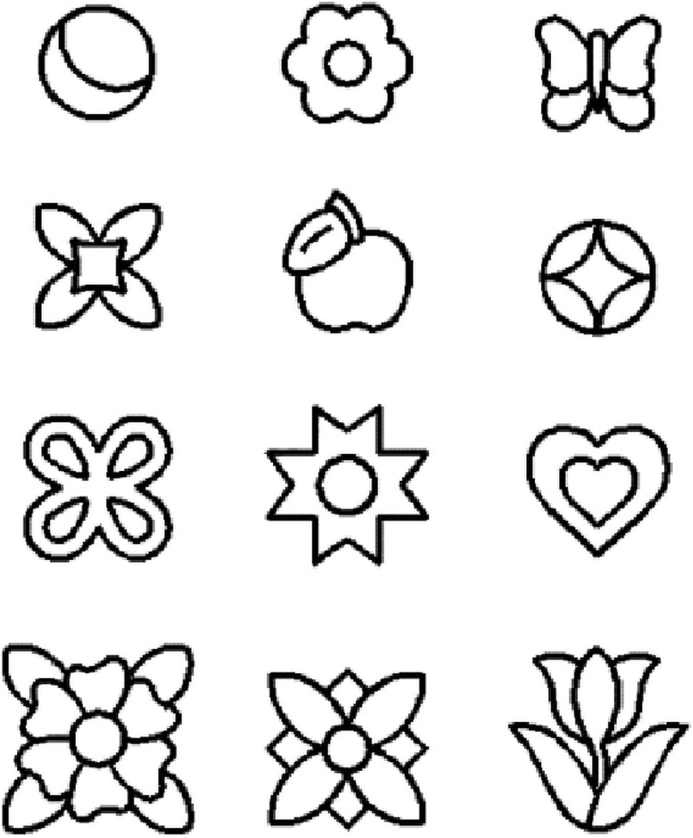 Assorted Ranking TOP10 Large-scale sale Mini Quilting Stencil